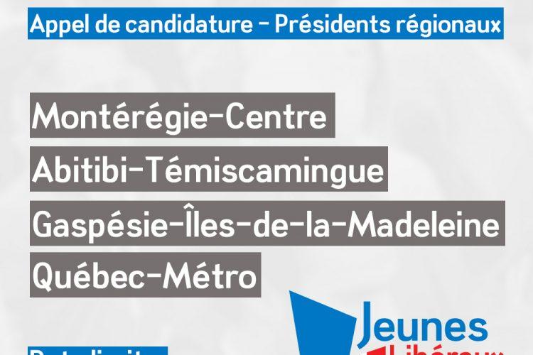 Appel de candidature – Présidents régionaux