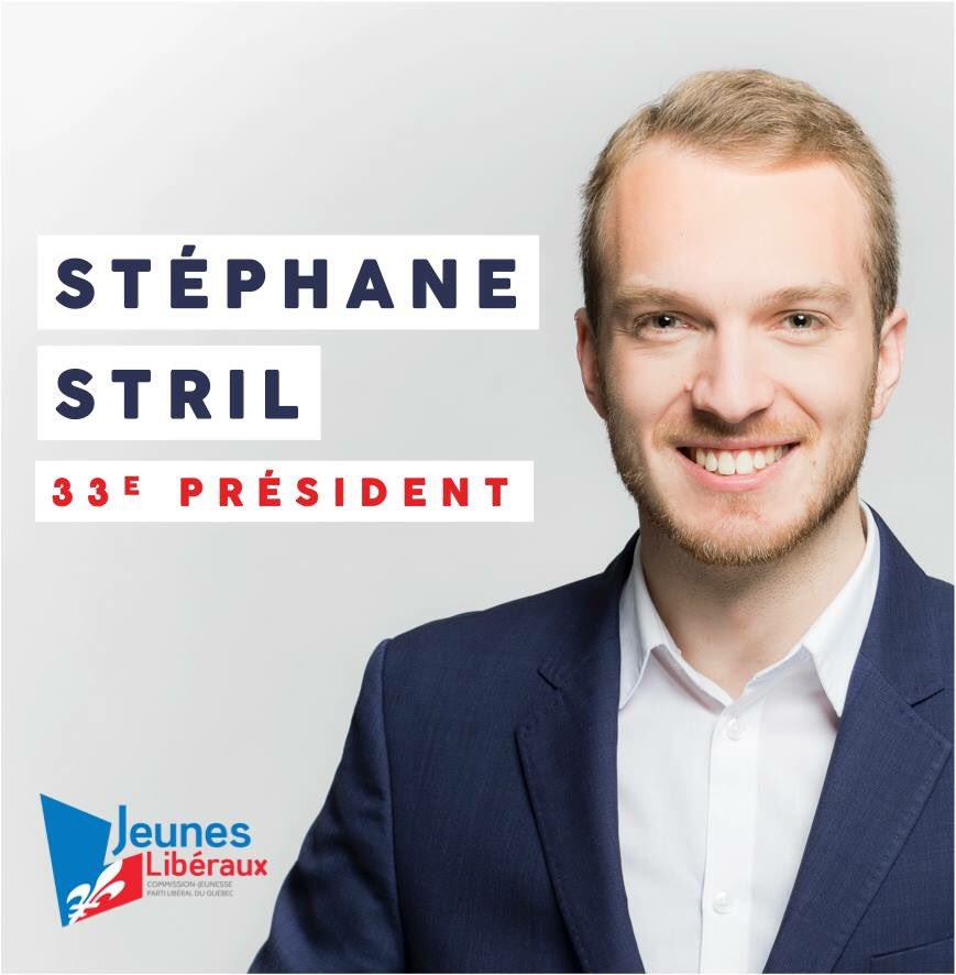 Stéphane Stril nouveau président des jeunes libéraux en route vers les élections de 2018