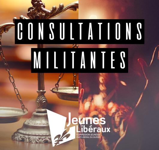 Consultation militante: Justice et culture