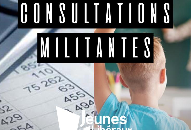 Consultation militante: éducation et économie
