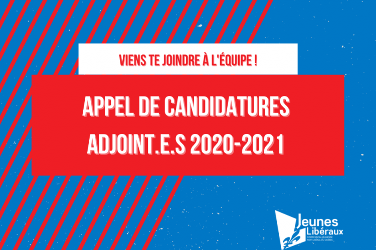 Appel de candidatures – 2020-2021